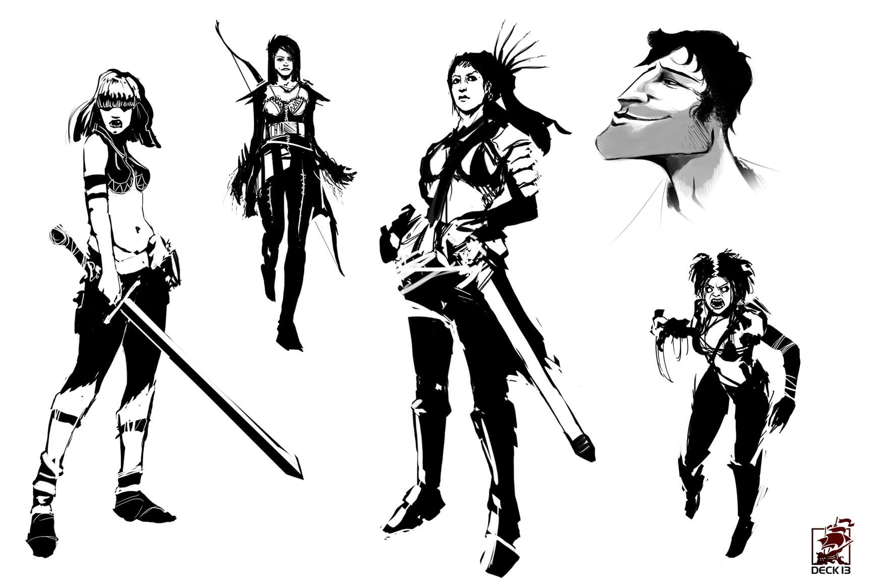 blood-knights-character-concept-art-felix-haas-character_bw_sketches